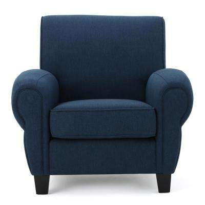 Finley Dark Blue Fabric Club Chair