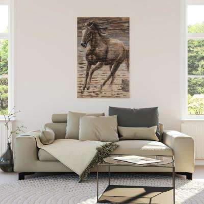 "47.244 in. H x 31.496 in. W ""Beauty on the Run"" Artwork in Wood Wall Art"