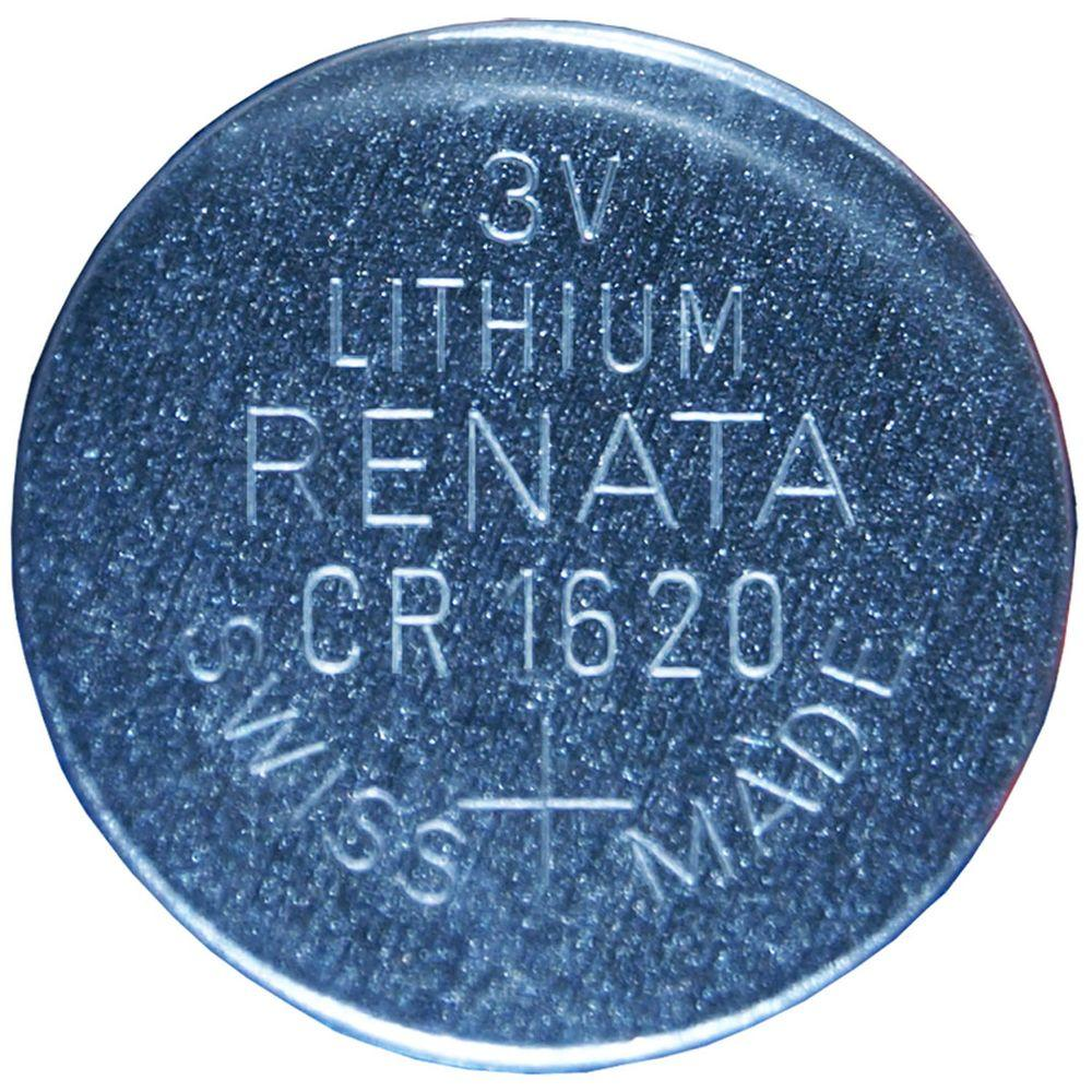 Renata Lithium CR1620 3 Volt Coin Cell Battery  5 Pack  88100   The Home  Depot. Renata Lithium CR1620 3 Volt Coin Cell Battery  5 Pack  88100