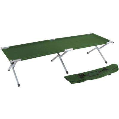 75 in. Portable Folding Camping Bed and Cot (Army Green)