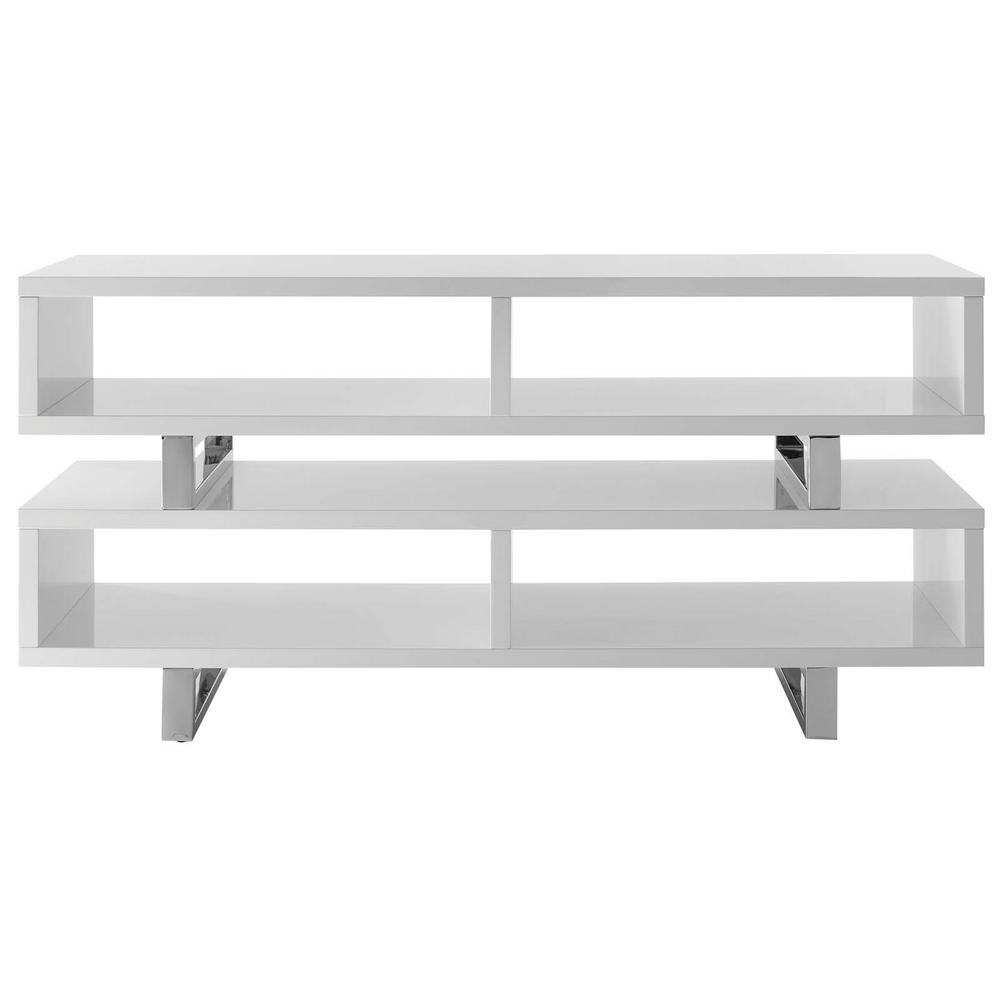 Amble 47 in. White TV Stand