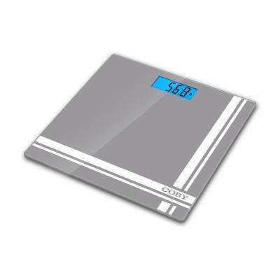 Digital Bathroom Scale with Blue LCD Display
