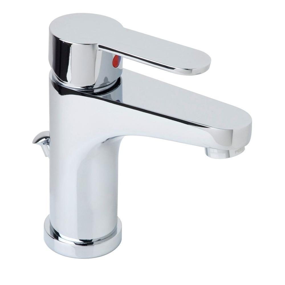 Symmetrix Single Hole 1-Handle Mid-Arc Bathroom Faucet in Chrome