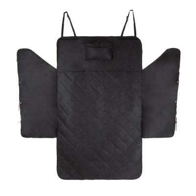 Black Car Seat Cover and Cargo Liner for SUVs with Side Coverage