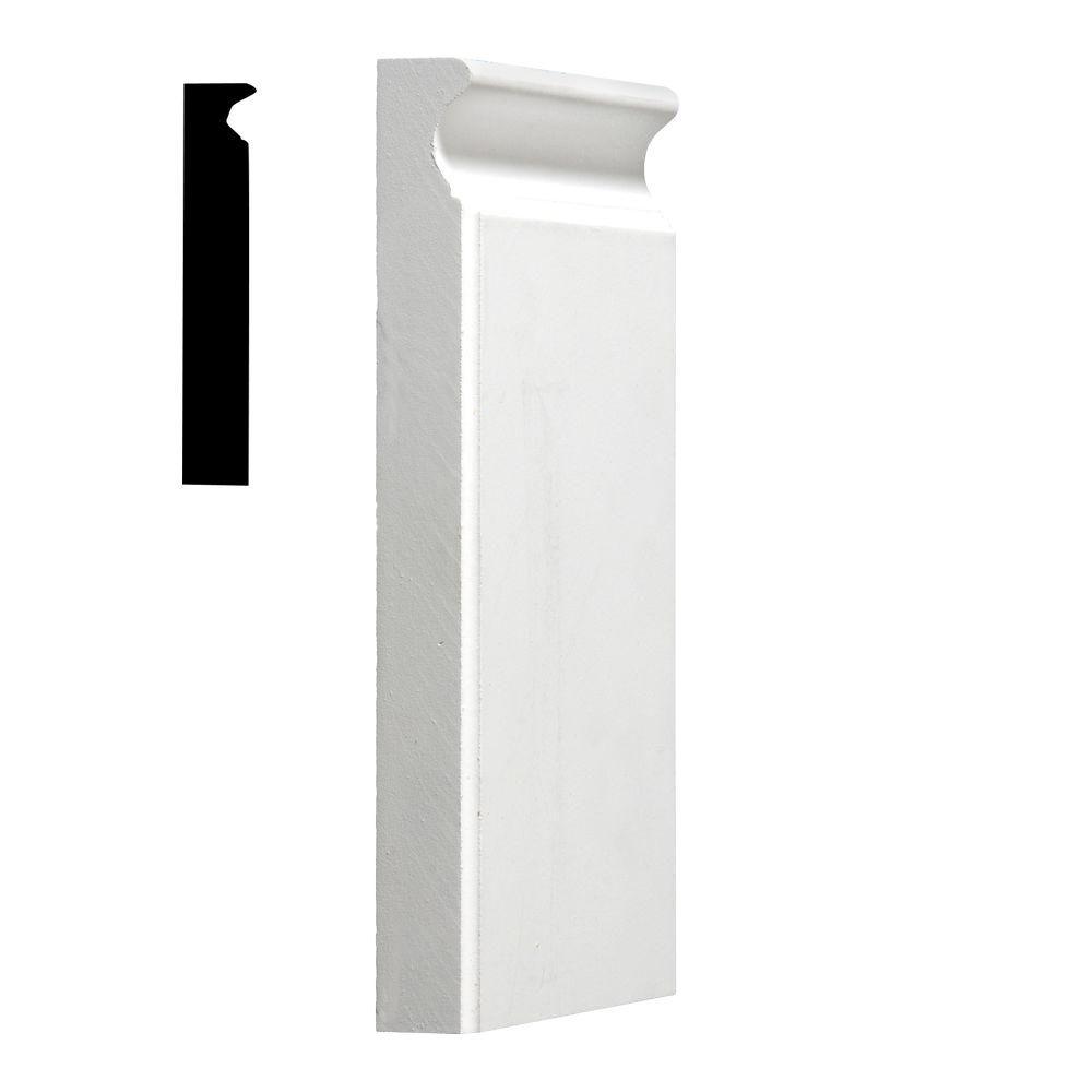 1 in. x 5-1/8 in. x 9 in. Primed MDF Plinth Block Moulding
