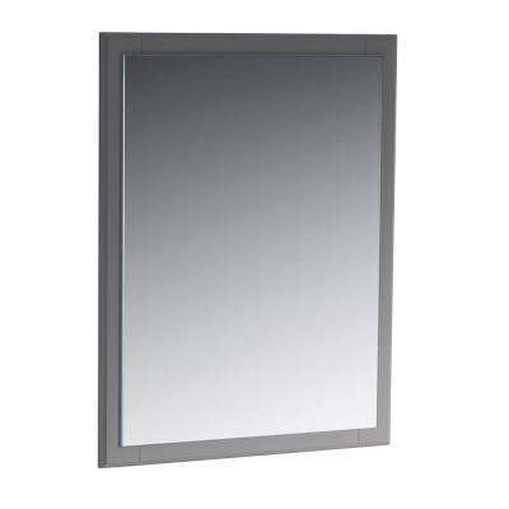 Oxford 26 in. W x 32 in. H Framed Wall Mirror in Gray