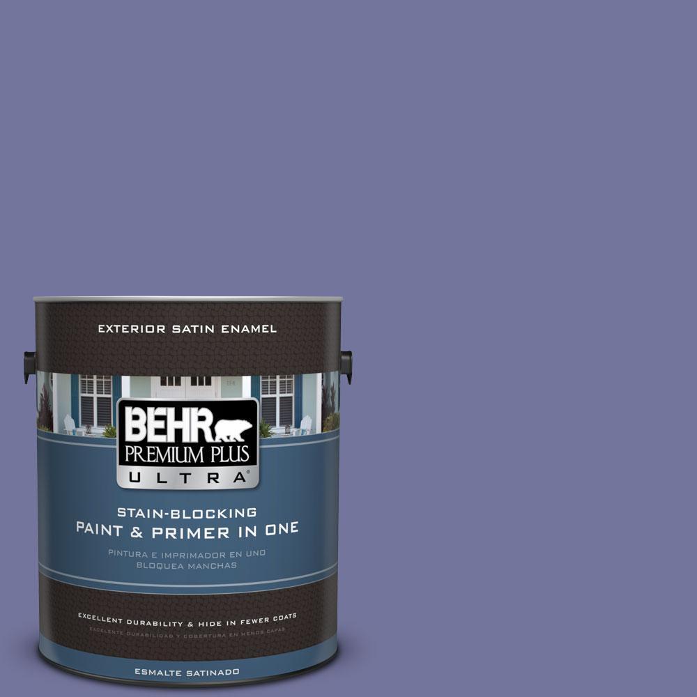 BEHR Premium Plus Ultra 1-gal. #630D-6 Palace Purple Satin Enamel Exterior Paint