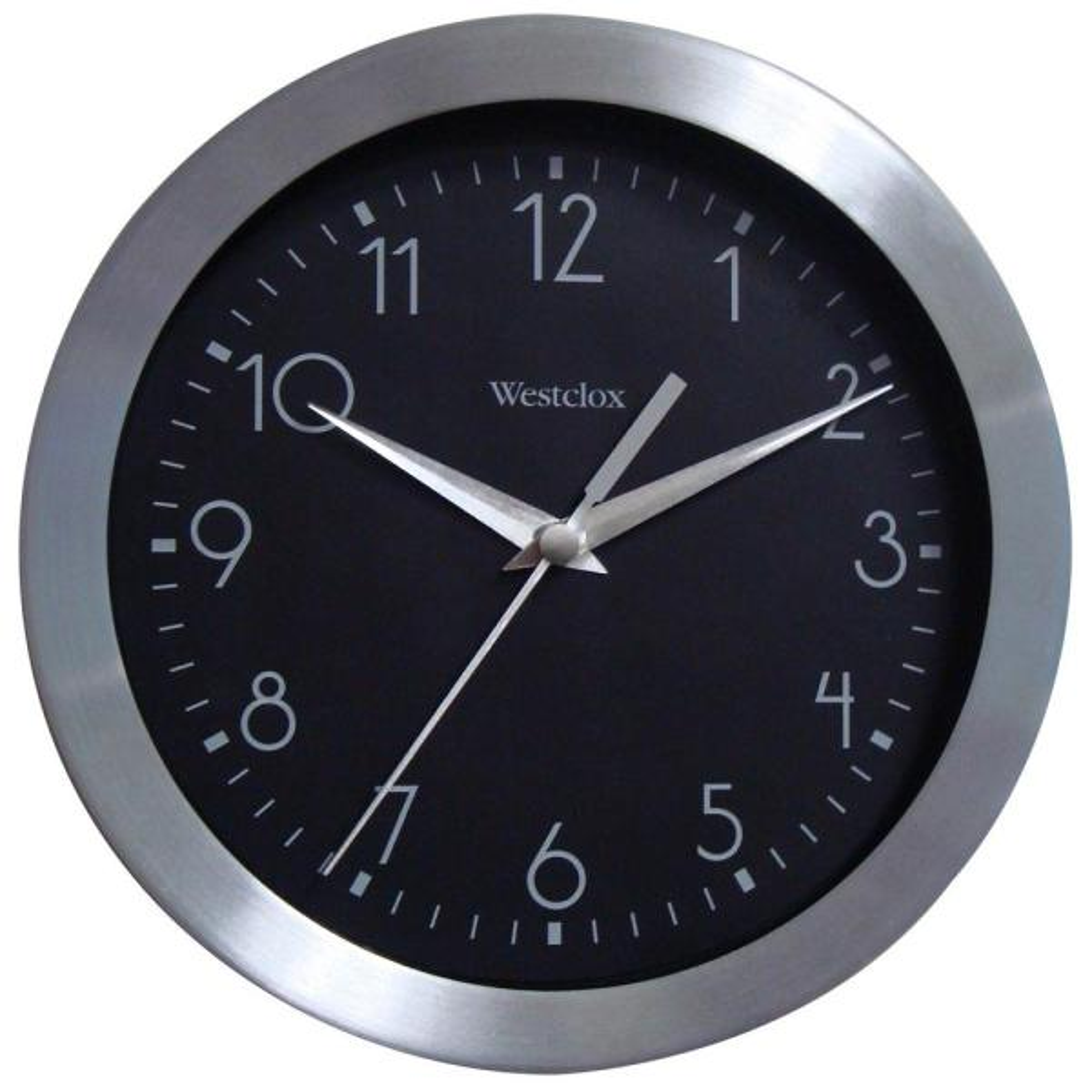 9 in. Metal Frame Analog Wall Clock