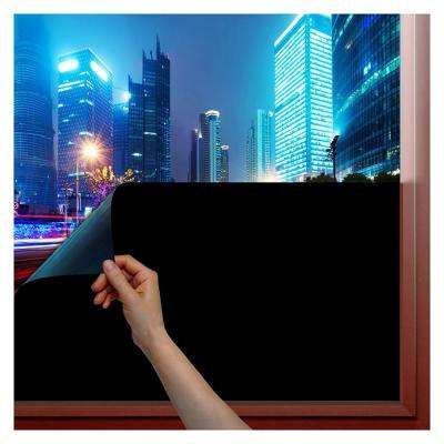 36 in  x 50 ft  1BKOT Blackout Non-Adhesive Static Cling Window Film