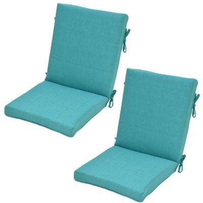 Marvelous Seaglass Outdoor Dining Chair Cushion (2 Pack)
