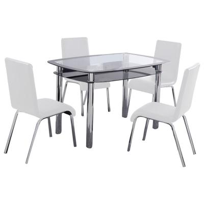 Reagan White Dinette Set (5-Piece)