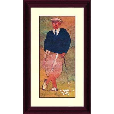 39.in x 21.62.in''The Golfer'' By PTM Images Framed Printed Wall Art