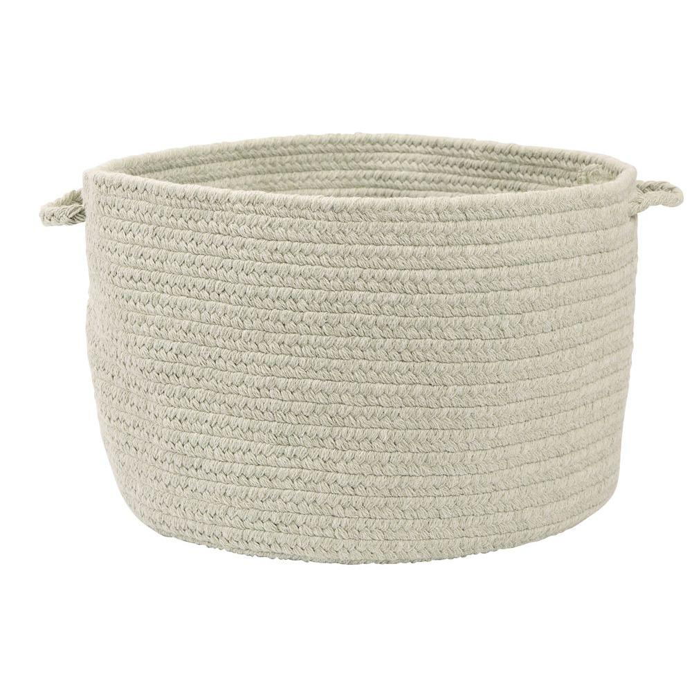 Colonial Mills Allure Misted Green Braided 18 in. x 12 in. Utility Basket