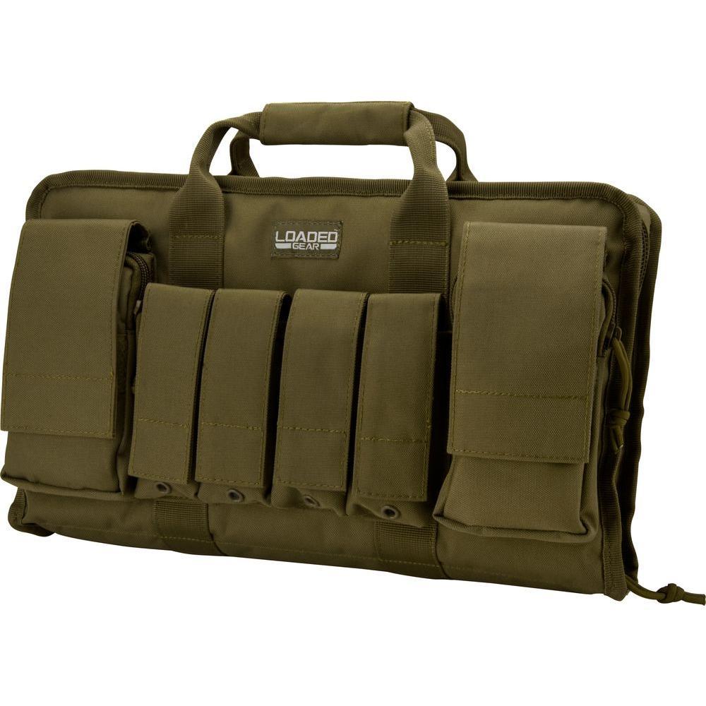 f1ae768ee30 BARSKA Loaded Gear RX-50 16 in. Tactical Pistol Bag in Olive Drab ...