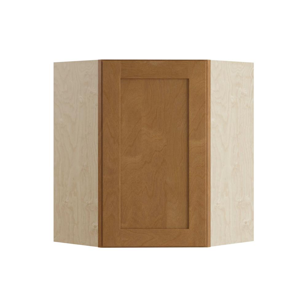 Home Decorators Collection Hargrove Assembled 24x30x24 in. Wall Angle Corner Cabinet in Cinnamon