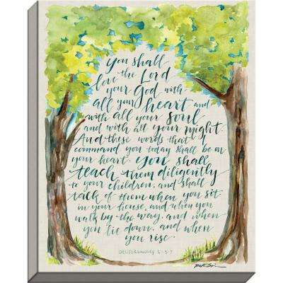 "GraceLaced ""Teach Them Diligently""  by GraceLaced for Carpentree Printed Canvas Wall Art"