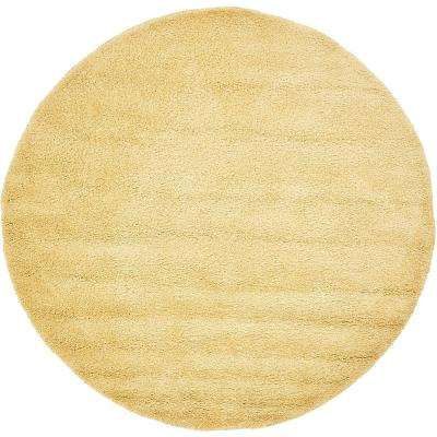 Solo Yellow 6 ft. x 6 ft. Round Area Rug