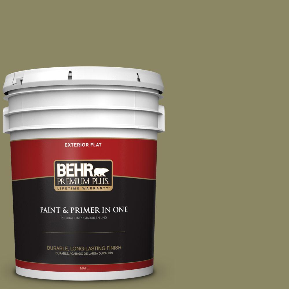 5 gal. #PPU9-23 Oregano Spice Flat Exterior Paint
