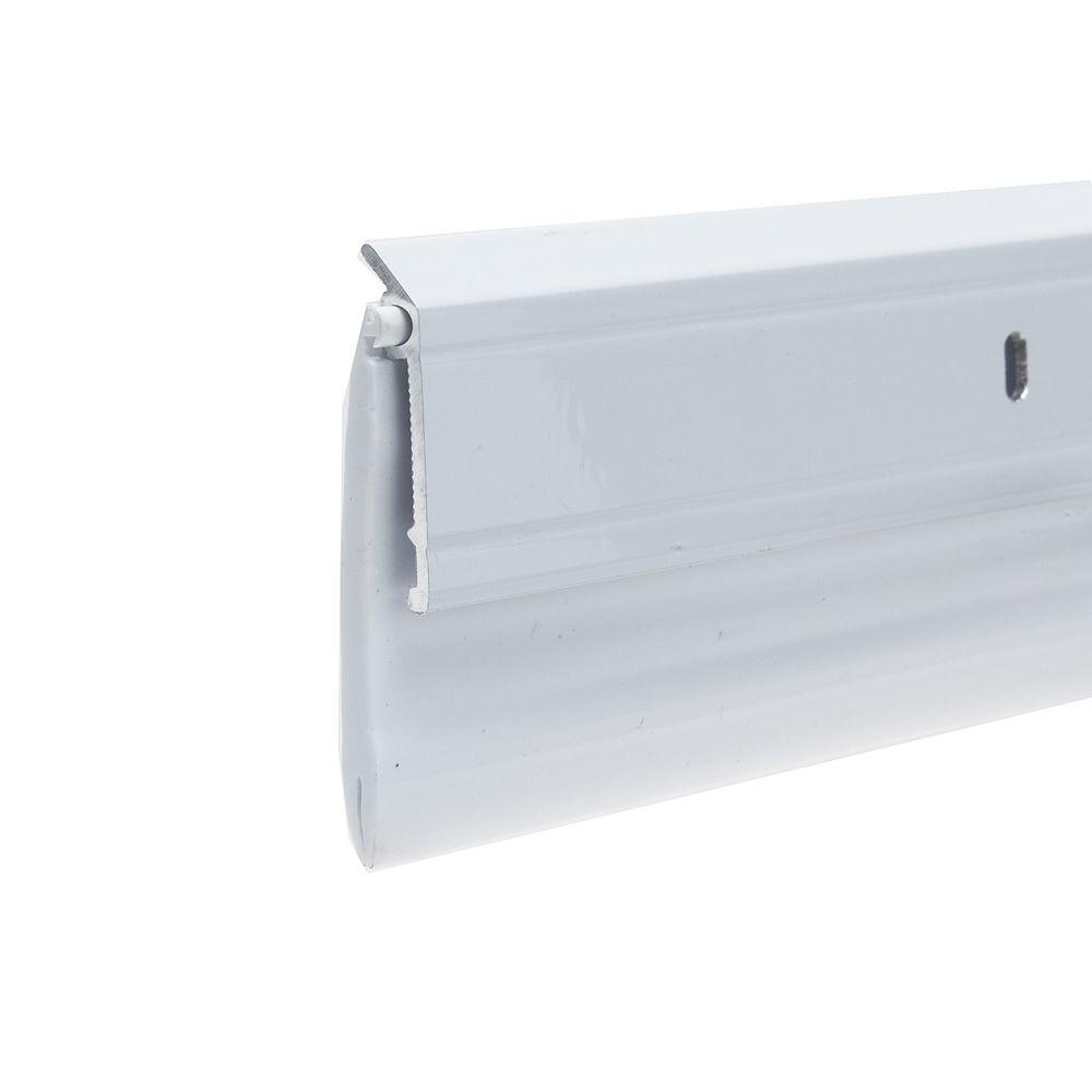 Frost King E/O 2-3/8 in. x 36 in. Aluminum White and Vinyl Ex-Wide Door Sweep