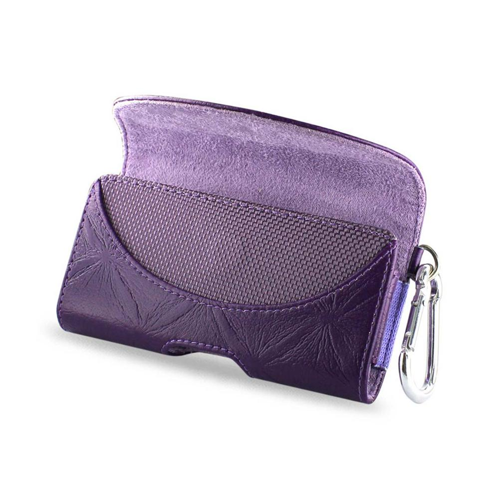 REIKO Small Horizontal Leather Holster in Purple