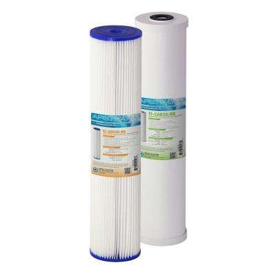 20 in. Whole House Sediment and Carbon Replacement Water Filter Set