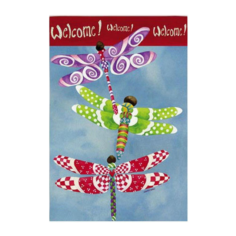12-1/2 in. x 18 in. Dragonflies Garden Flag