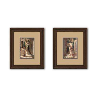 "21 in. x 25 in. ""Provence Arch"" Double Matted Framed Wall Art (2-Piece)"