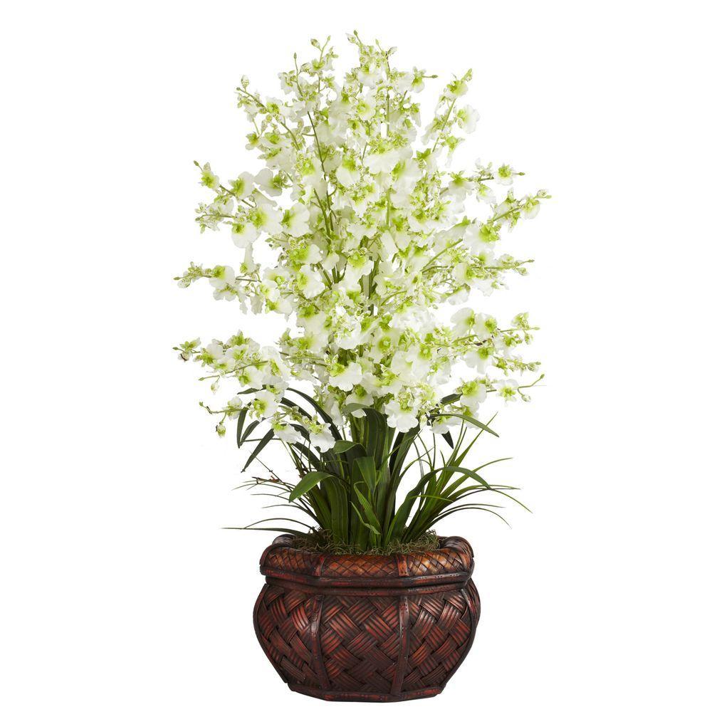 30 in. H Green Dancing Lady Silk Flower Arrangement