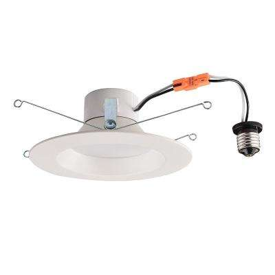 5/6 in. 90-Watt Equivalent White Integrated LED Recessed Trim Dimmable Downlight Soft White