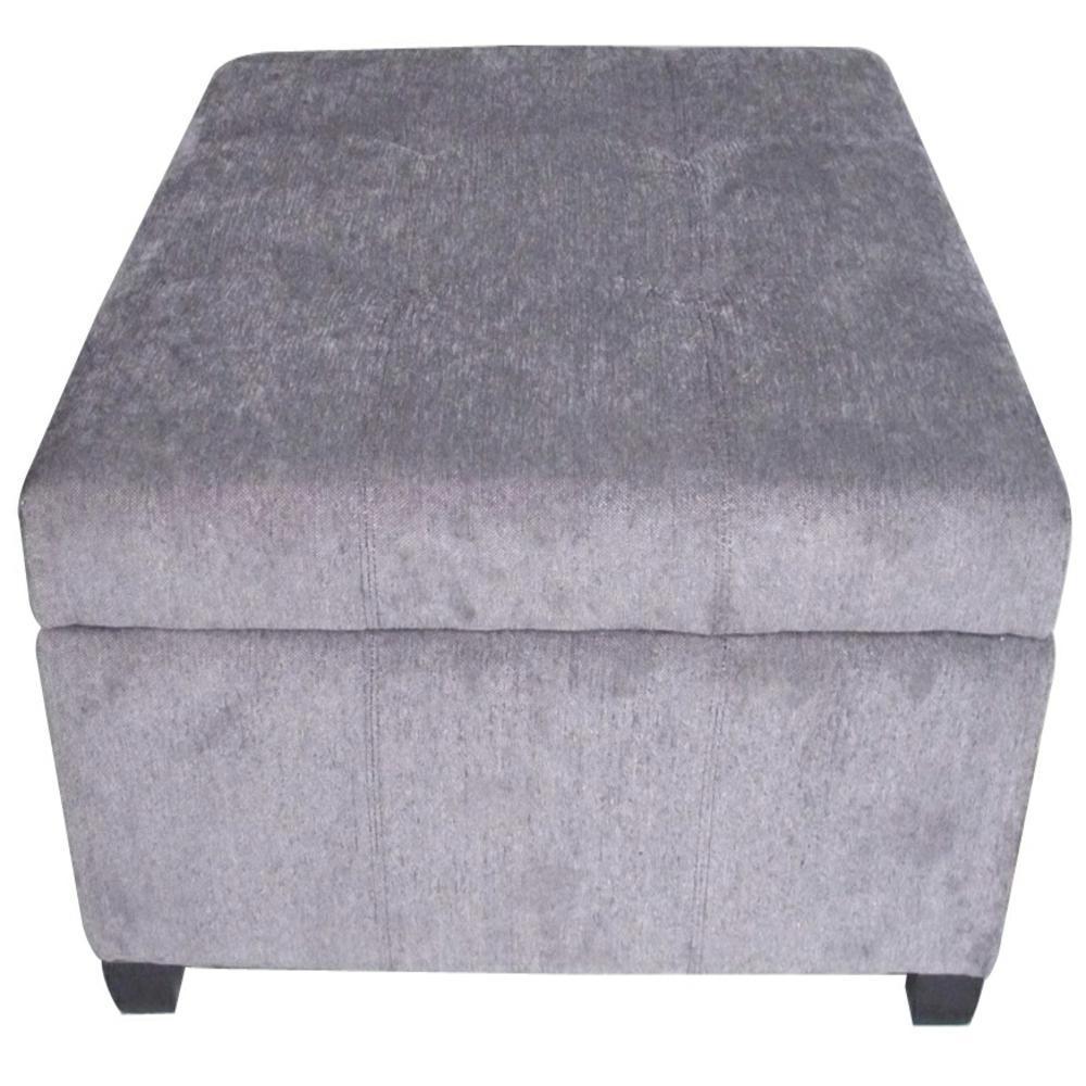 Prime Richmond Dark Gray Linen Storage Ottoman Machost Co Dining Chair Design Ideas Machostcouk
