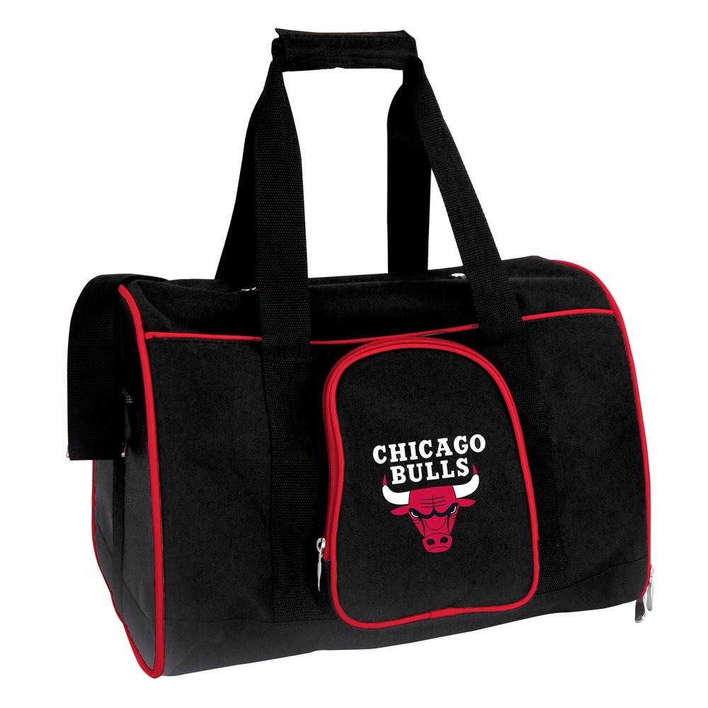 Denco Nba Chicago Bulls Pet Carrier Premium 16 In Bag Red