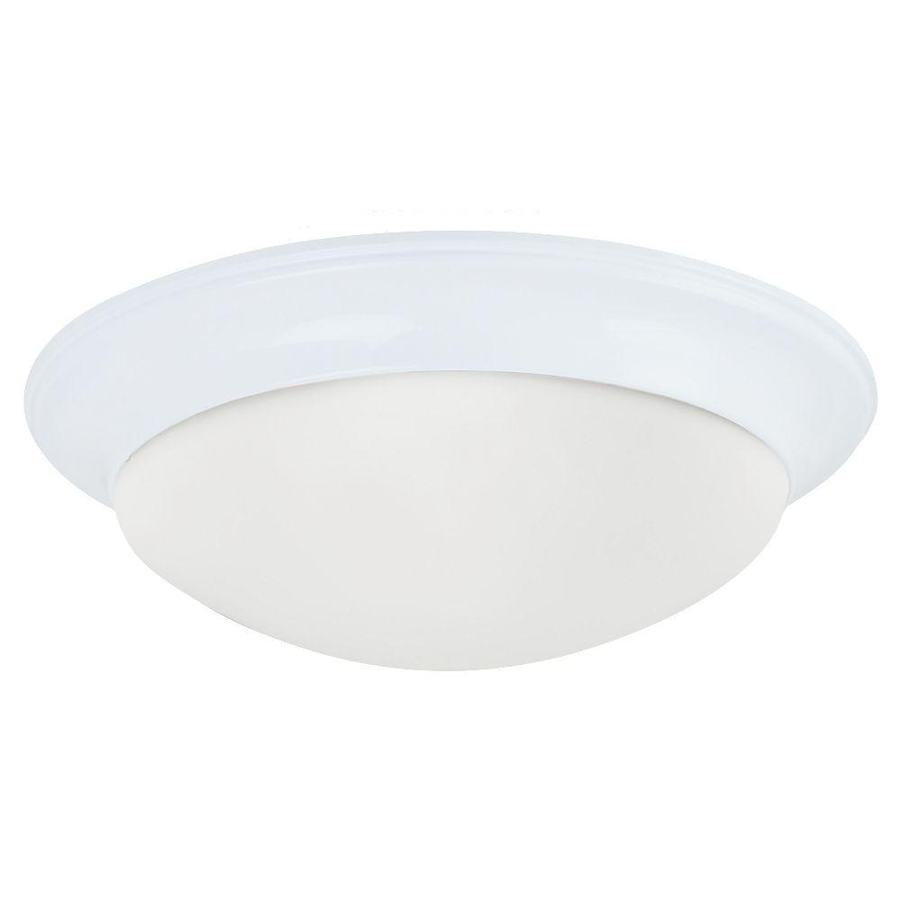 Nash 3-Light White Flushmount