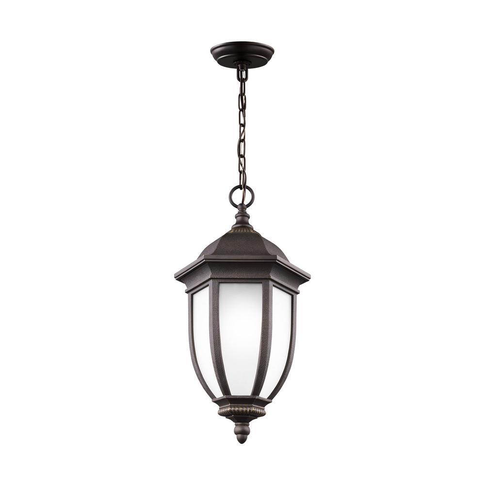 Sea Gull Lighting Galvyn Antique Bronze 1-Light Hanging Pendant