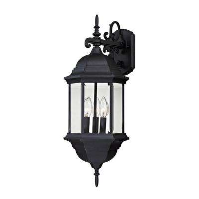 Spring Lake 3-Light Matte Black Outdoor Wall Lamp