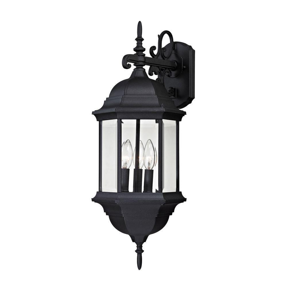 An Lighting Spring Lake 3 Light Matte Black Outdoor Wall Lantern Sconce