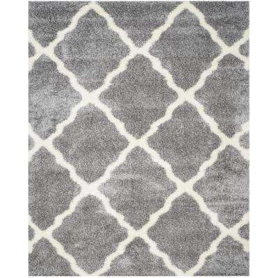 Montreal Shag Gray/Ivory 9 ft. x 12 ft. Area Rug