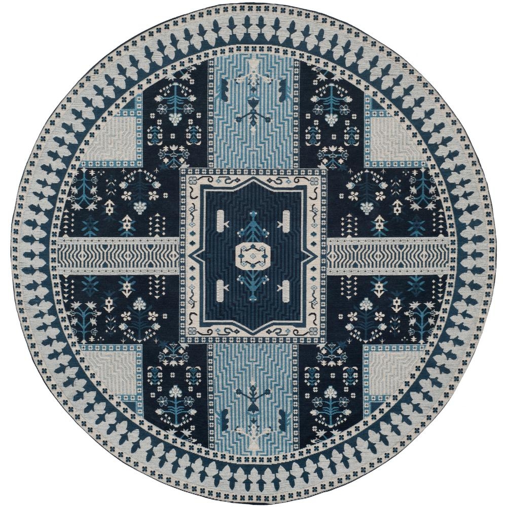 Blue And White Circle Rug: Safavieh Classic Vintage Navy/Light Blue 6 Ft. X 6 Ft
