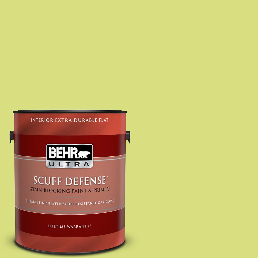 Behr Ultra 1 Gal 410b 4 Carolina Parakeet Extra Durable Flat Interior Paint And Primer In One 172401 The Home Depot