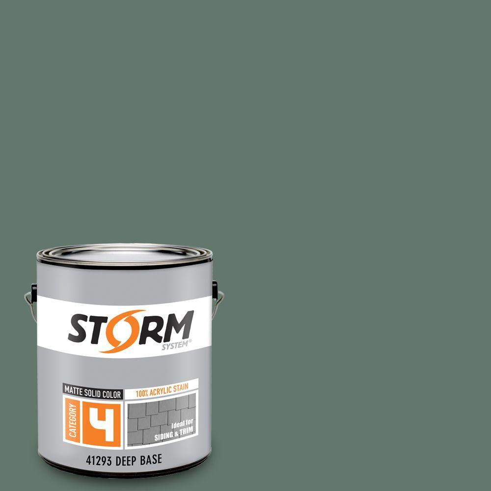 Storm System Category 4 1 gal. Zion Forest Matte Exterior Wood Siding 100% Acrylic Latex Stain