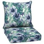 24 in. x 22.5 in. Salome Tropical 2-Piece Outdoor Deep Seating Lounge Chair Cushion
