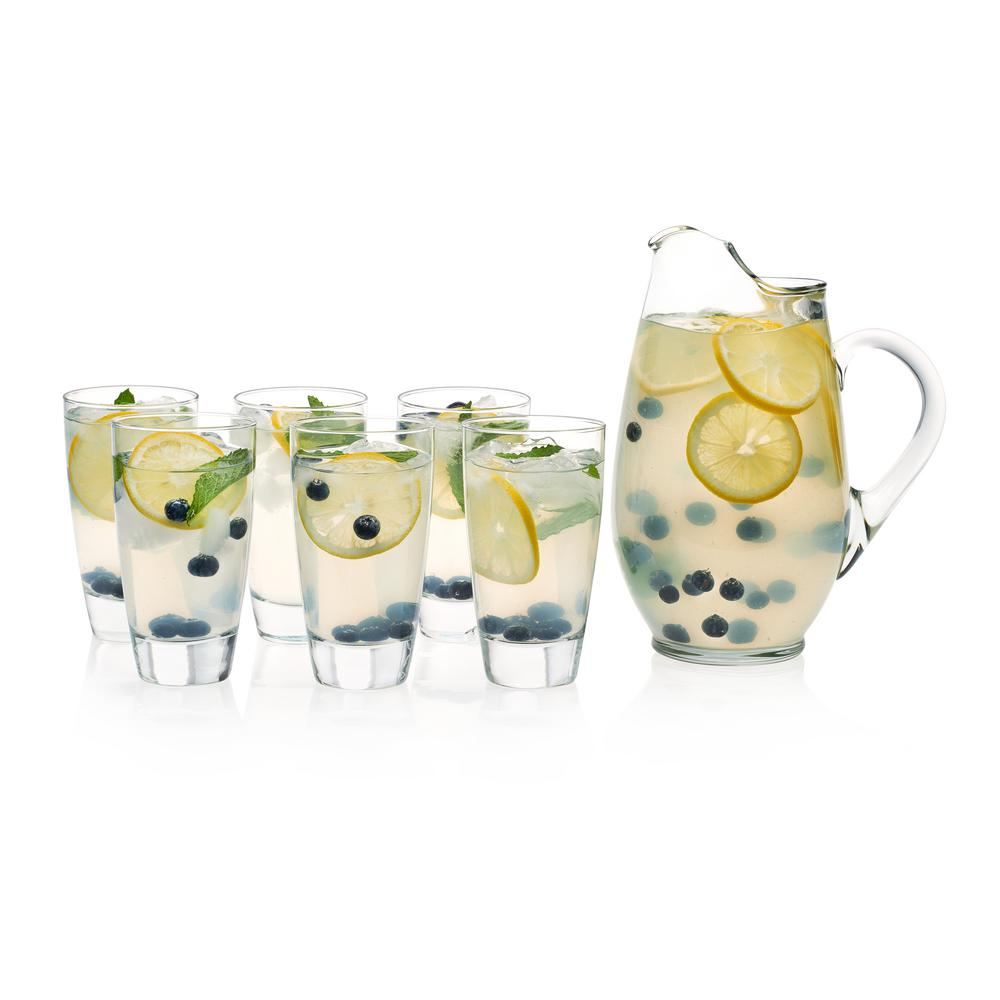 Classic Pitcher 7-Piece Glass Entertaining Set