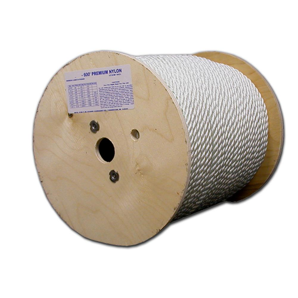 1/4 in. x 600 ft. Twisted Premium Nylon Rope Reel