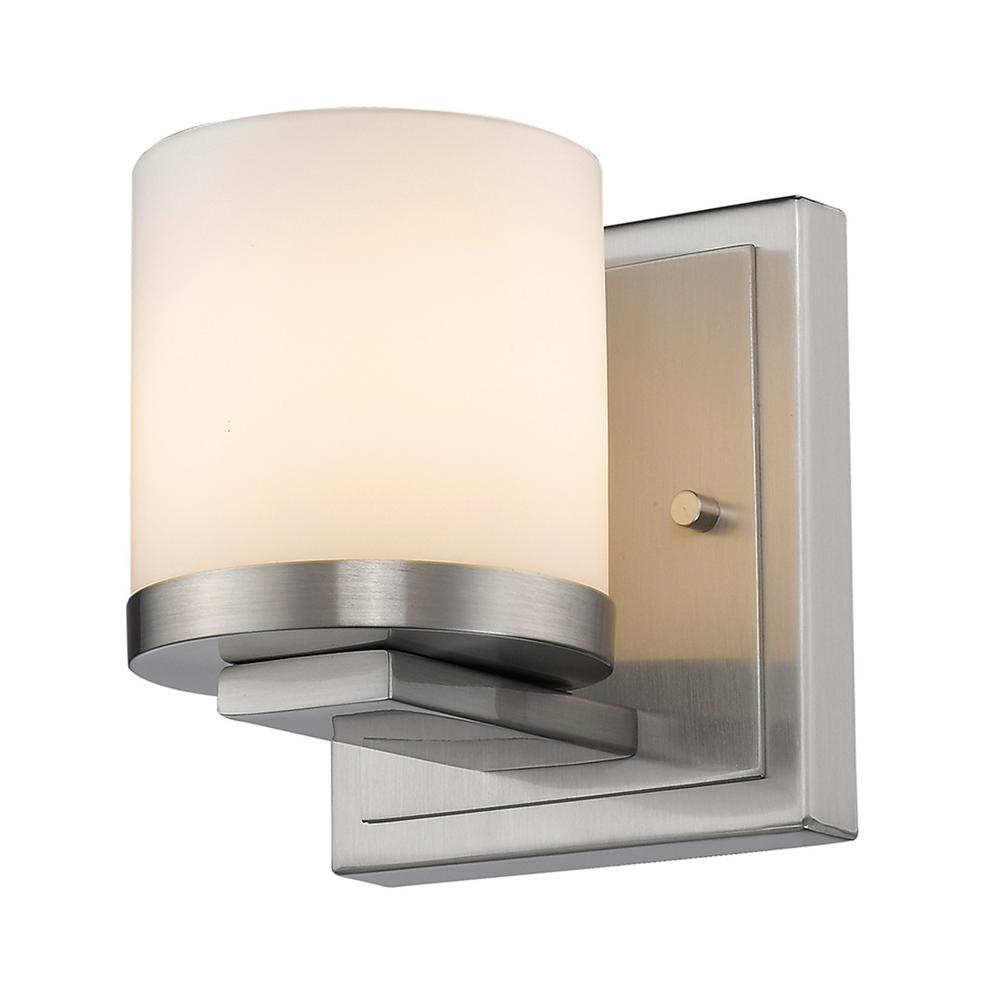 1-Light Brushed Nickel LED Wall Sconce