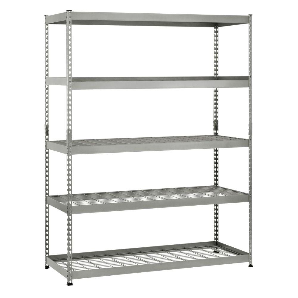 Husky 78 in. H x 60 in. W x 24 in. D 5 Shelf Steel Unit-MR602478W5 ...