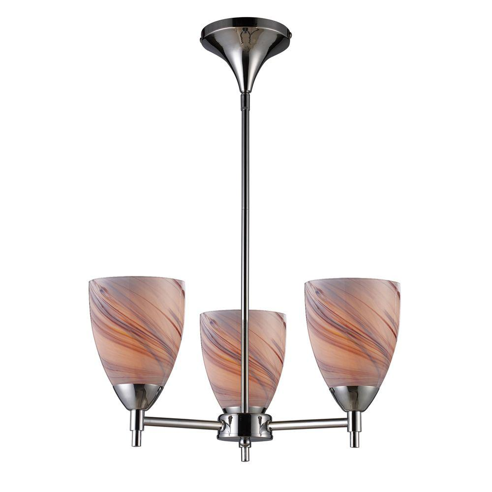 Titan Lighting 3-Light Ceiling Mount Polished Chrome Chandelier-DISCONTINUED
