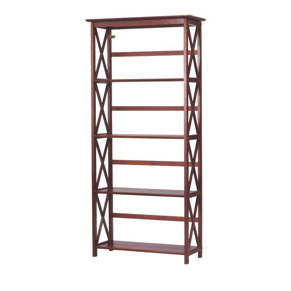 Casual Home Montego Walnut Open Bookcase Deals