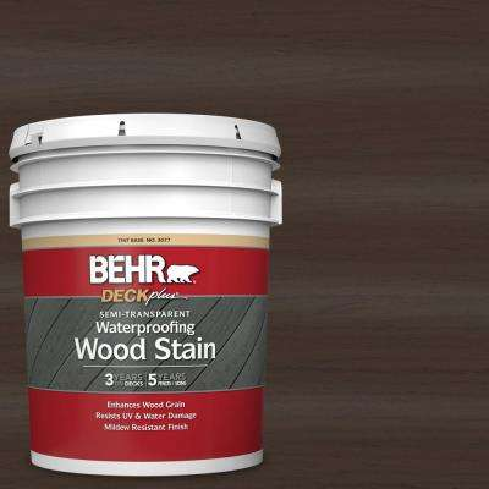 5 gal. #ST-105 Padre Brown Semi-Transparent Waterproofing Exterior Wood Stain