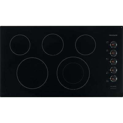 36 in. Radiant Electric Cooktop in Black with 5 Elements including Quick Boil Element