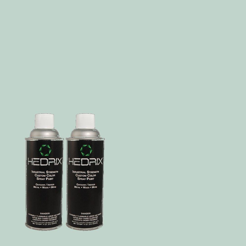 Hedrix 11 oz. Match of BHG-49 Gazebo Flat Custom Spray Paint (2-Pack)