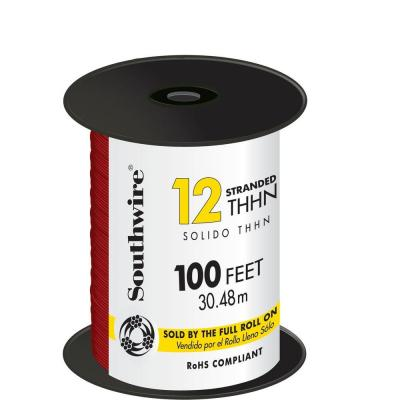 100 ft. 12 Red Stranded CU THHN Wire